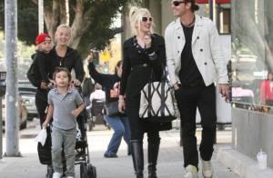 Gwen Stefani : Shopping en famille avec ses adorables bambins et son homme