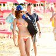 Rihanna : une vraie beauté qui se pavane au soleil à la Barbade le 29 décembre 2011