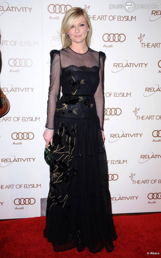 Kirsten Dunst à Los Angeles, le 14 janvier 2012.
