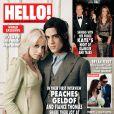 Peaches Geldof et son fiancé Thomas Cohen en couverture du magazine  Hello! , numéro du 23 janvier 2012.