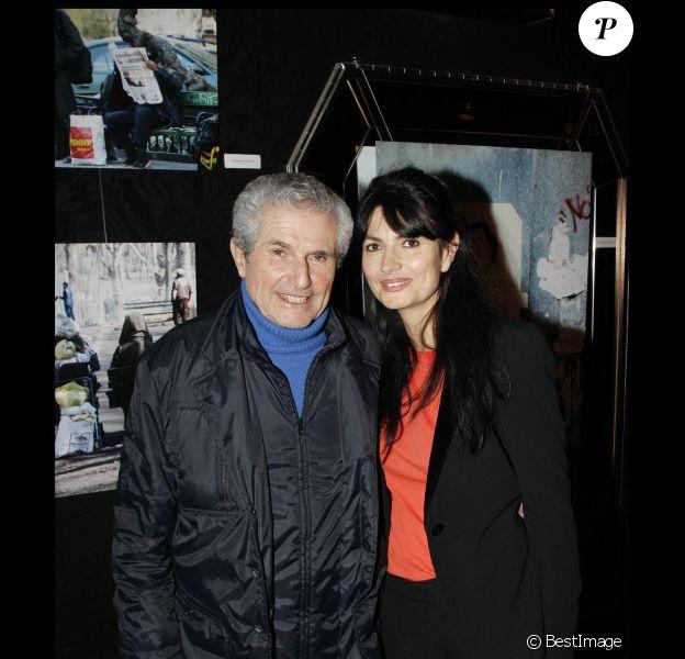 Claude et Valérie Perrin au Ciné 13 Théâtre, à Paris. Janvier 2012