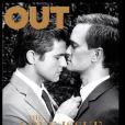 Neil Patrick Harris et son compagnon David Burtka en couverture du magazine Out, the love issue