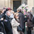 Marthe Mercadier lors des obsèques de Rosy Varte, en l'église arménienne à Paris, le 19 janvier 2012
