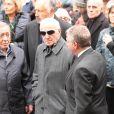 Charles Aznavour lors des obsèques de Rosy Varte, en l'église arménienne à Paris, le 19 janvier 2012