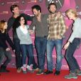Judith Sibony, Rebecca Azan, Nader Boussandel, Arthur Benzaquen et Olivia Cote lors du 15e Festival du film de comédie de l'Alpe d'Huez le 20 janvier 2012