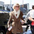 L'actrice Katherine Heigl à l'aéroport de Los Angeles, le 21 janvier 2012.