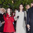 La princesse Caroline et sa fille la princesse Alexandra se sont jointes au prince Albert et à la princesse Charlene pour les célébrations de Sainte-Dévote.   Au soir du 26 janvier 2012, comme chaque année, le prince Albert II de Monaco et des membres de la famille princière monégasque ont embrasé la barque commémorant la légende de Sainte-Dévote et honorant le lien entre la principauté et sa sainte-patronne.