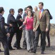 Le prince Felipe et Letizia d'Espagne étaient en visite, le 30 janvier 2012, sur l'île d'El Hierro, la plus occidentale de l'archipel des Canaries. L'île, classée réserve de biosphère à l'UNESCO depuis 2000, connaît la première éruption volcanique de son histoire.