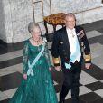 Accompagnée de son époux le prince Henrik, la reine Margrethe, dans le cadre du jubilé de ses 40 ans de règne,  était à nouveau à l'honneur le 1er février 2012, avec un dîner de gala  au palais de Christiansborg.