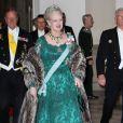 La reine Margrethe, dans le cadre du jubilé de ses 40 ans de règne, était à nouveau à l'honneur le 1er février 2012, avec un dîner de gala au palais de Christiansborg.