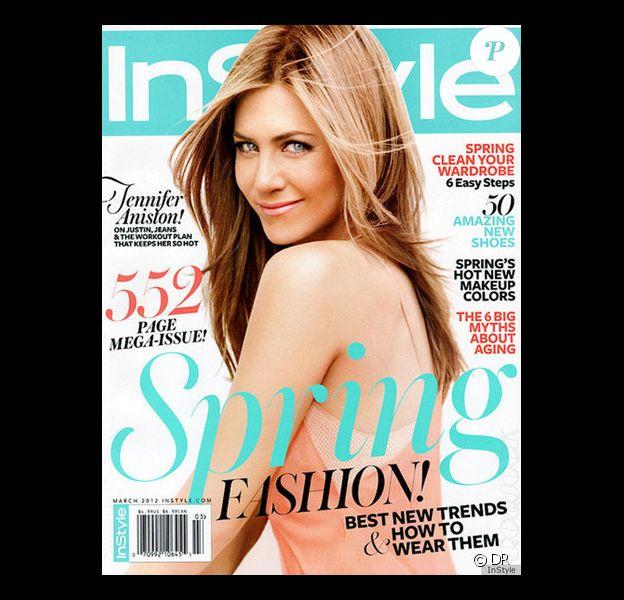 Jennifer Aniston est en couverture de Instyle, mars 2012.