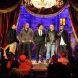 Ymanol Perset, Philippe Faucon, Kamel Laadaili, Rashid Debbouze et Yassine Azzouz à l'avant-première de La Désintégration, au Comedy Club de Paris le 8 février 2012.