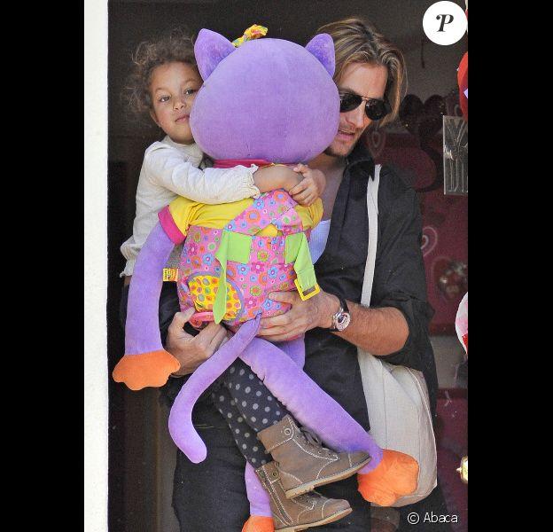Gabriel Aubry et sa petite Nahla, le 8 février à Los Angeles