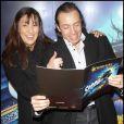 Philippe Candeloro et son épouse Olivia lors de la première d'Holiday on Ice au Zenith de Paris le 10 février 2012