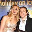 Elodie Gossuin et Philippe Candeloro lors de la première d'Holiday on Ice au Zenith de Paris le 10 février 2012