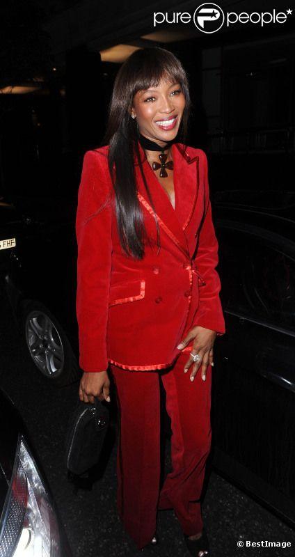 Naomi Campbell lors de l'after-party des BAFTA organisée par la Weinstein company le 12 février 2012 à Londres