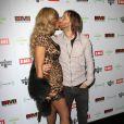 David et Cathy Guetta lors de la soirée EMI après les Grammy Awards, dans les locaux de Capitol Records à Los Angeles, le 12 février 2012.