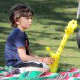 Gwen Stefani : son petit Kingston est à croquer parc de Santa Monica le 18 février 2012