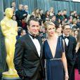 Jean Dujardin et Alexandra Lamy lors des Oscars à Los Angeles le 26 février 2012