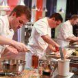 Julien concentré pendant la cinquième émission de Top Chef 3, lundi 27 février 2012 sur M6