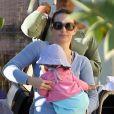 Kristin Davis et sa fille Gemma Rose le 16 février 2012 à Brentwood en Californie