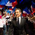Nicolas Sarkozy donnait un meeting à Bordeaux, le samedi 3 mars 2012, en vue de la présidentielle de 2012.
