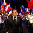 Nicolas Sarkozy lors d'un meeting à Bordeaux, le samedi 3 mars 2012, en vue de la présidentielle de 2012.