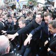 Nicolas Sarkozy a été bousculé à Bayonne le 1er mars et les CRS ont dû le dégager d'un café où il s'était réfugié...