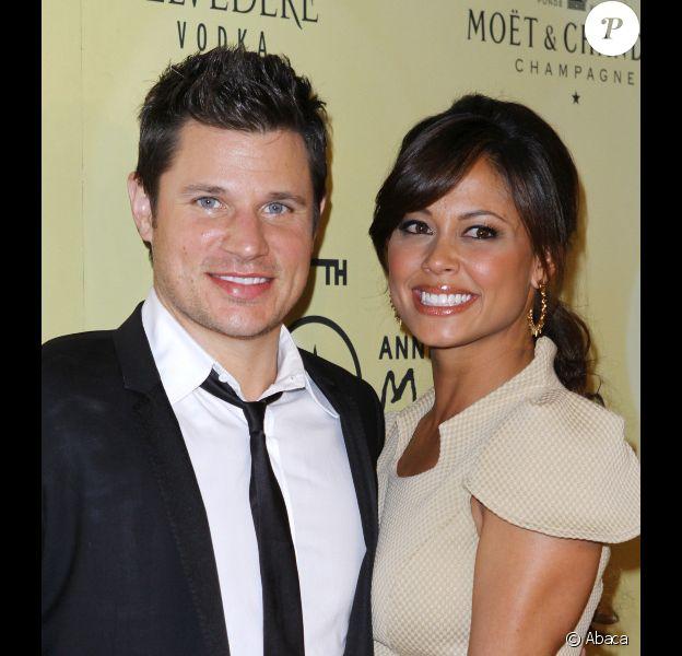 Vanessa Minnillo et Nick Lachey en octobre 2011