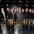 L'équipe du film lors de la soirée The Artist au restaurant Le Georges à Paris le 6 mars 2012