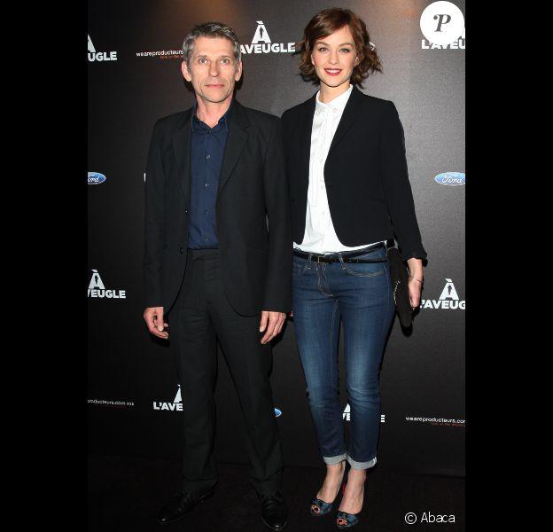 Jacques Gamblin et Raphaëlle Agogué lors de l'avant-première du film A l'aveugle le 6 mars 2012