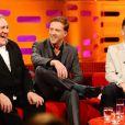 Gérard Depardieu sur le plateau de l'émission The Graham Norton Show dans les studios de Londres le 8 mars 2012
