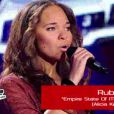 Prestation de Rubby dans The Voice le samedi 10 mars 2012 sur TF1