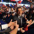 Nicolas Sarkozy lors de son meeting de Villepinte le 11 mars 2012