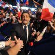 Nicolas Sarkozy lors de son meeting de Villepin le 11 mars 2012