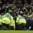 Fabrice Muamba, victime d'un arrêt cardiaque le 17 mars 2012 lors d'un match entre Bolton et Tottenham