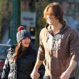 Jared Padalecki et sa femme Genevieve en décembre 2011 à Vancouver