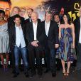 L'équipe lors de l'avant-première du film Sur la piste du Marsupilami à Paris le 26 mars 2012