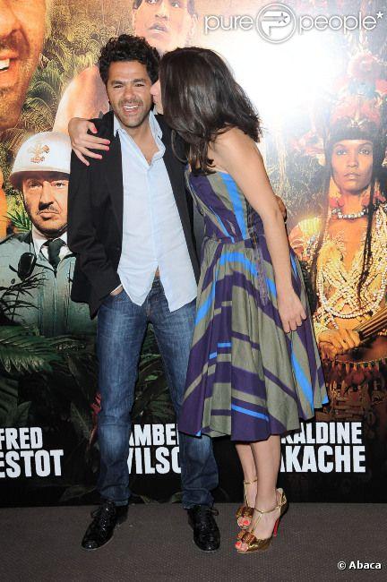 Jamel Debbouze et Géraldine Nakache lors de l'avant-première du film Sur la piste du Marsupilami à Paris le 26 mars 2012