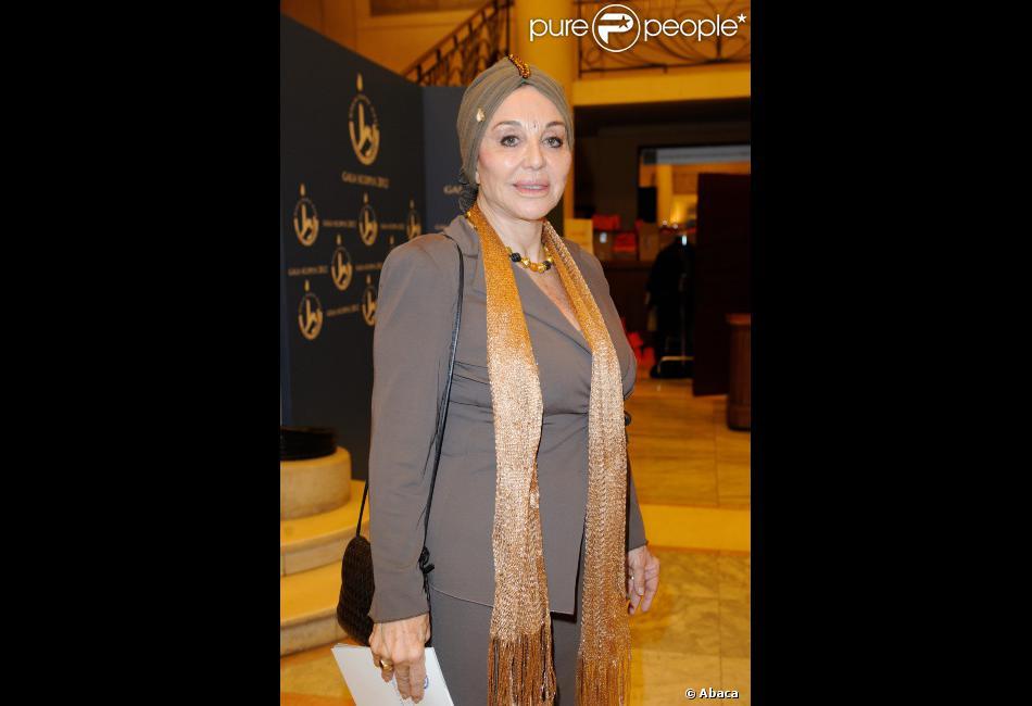 Albina du Boisrouvray le 27 mars 2012 au Théâtre des Champs Elysées pour le Gala Scopus