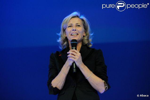 Claire Chazal le 27 mars 2012 au Théâtre des Champs Elysées pour le Gala Scopus