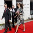 La princesse Mary de Danemark lors de l'inauguration d'un espace mère-enfant à l'hôpital de Kolding le 28 mars 2012.