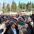 Funérailles de la princesse Neslisah, dernière sultane de la dynastie ottomane, le 3 avril 2012 à Istanbul (Turquie), au lendemain de sa mort à l'âge de 91 ans.