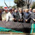 La mosquée du palais Yildiz accueillait le 3 avril 2012 les funérailles de la princesse Neslisah, dernière sultane de la dynastie ottomane, à Istanbul (Turquie), au lendemain de sa mort à l'âge de 91 ans.