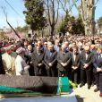 Funérailles de Neslisah, dernière sultane de la dynastie ottomane, le 3 avril 2012 à Istanbul (Turquie), au lendemain de sa mort à l'âge de 91 ans.