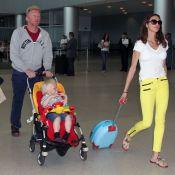 Boris Becker et sa belle débarquent à Miami avec leur petit Amadeus en larmes