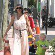 Lilly Kerssenberg et le petit Amadeus souriants le 4 avril 2012 à Miami