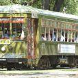 Exclusif : Le 1er avril 2012, Suri et sa famille sont montés dans un car typique de la Nouvelle Orléans
