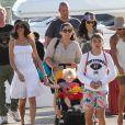 Boris Becker, sa femme Lilly Kerssenberg, leur petit Amadeus et Elias le 9 avril 2012 à Miami
