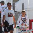Noah et Elias Becker le 9 avril 2012 à Miami